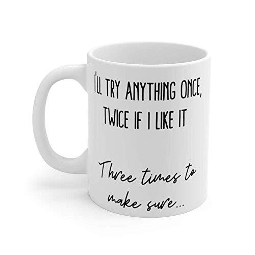 Tazas de café Taza Mae West 39I39ll Try AnyOnce39 Cheeky Quote Taza de café Regalos para el día de la madre Novedad Tazas divertidas Presente 11 oz