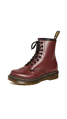 Dr. Martens Damen 1460W Originals Eight-Eye Lace-Up Boot, 8-Loch, Stiefel, Kirschrot Rouge glatt, 38 EU