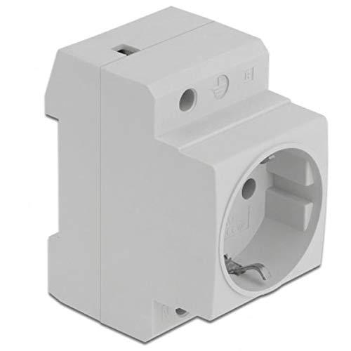 Delock Enchufe con protección de Contacto para Montaje en riel DIN (5 Unidades)