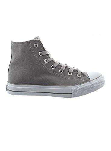 JUMEX Schuhe Herren Canvas High Top Sneaker Freizeitschuhe JX-9024 Grau EUR 42