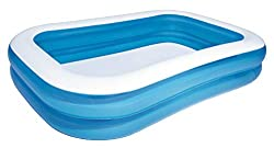 Bestway Family Pool, Pool rechteckig für Kinder, leicht aufbaubar, blau, 262 x 175 x 51 cm