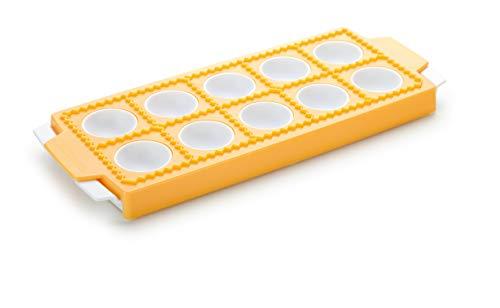 Tescoma 630875 Delicia Stampo per Raviolini Tondi, Plastica, Giallo, 10 Pezzi, 1 Pezzo