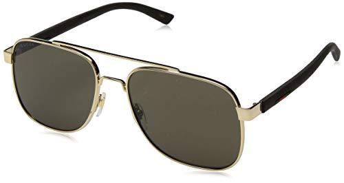 Gucci Unisex – Erwachsene GG0422S-003-60 Sonnenbrille, Mehrfarbig, 60