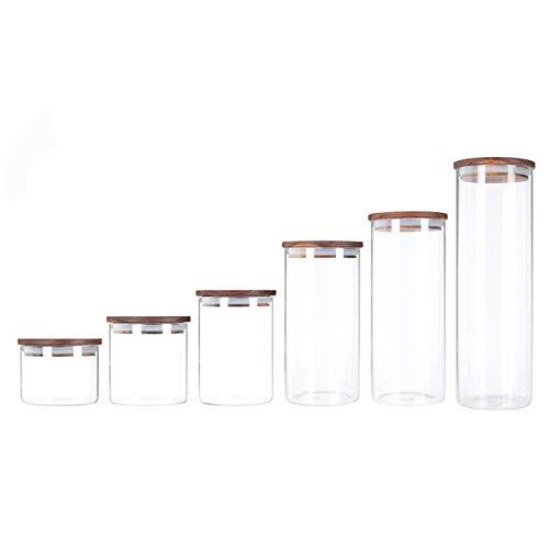 WANGLX ST Vakuum Vorratsdosen Set & Frischhaltedosen, 6er-Set, BPA frei & Spülmaschinengeeignet, Luftdicht wasserdicht, Aufbewahrungsdose & Vorratsbehälter, Transparent