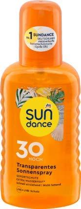 Sun Dance Transparentes Sonnenspray LSF 30 Hoch - UVA + UVB-Schutz - 200 mL