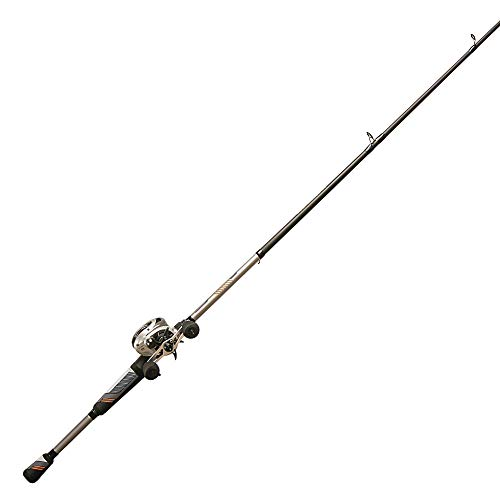 Quantum Throttle II Baitcast Reel and Fishing Rod Combo, IM8 Graphite Rod with ComfortGrip Handle, 8-Bearing Magnetic Cast Control Fishing Reel