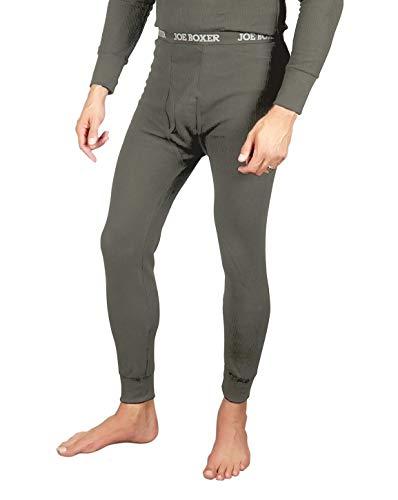 Joe Boxer Men's Thermal Pants - Long John Bottoms (Waffle Knit) - 2 Pack (Charcoal, 2X)