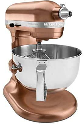 KitchenAid Professional 6-Quart Stand Mixer Satin Polished Metal (Copper Metal) (Renewed)