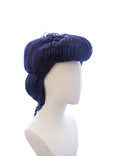 HANGCosplay Short Pompadour Purple Wig for Costume Party and Daily Use Josuke Higashikata Cosplay
