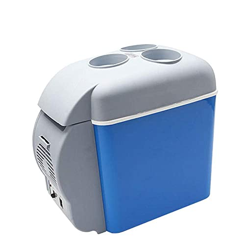 Peakfeng 7.5L Mini refrigerador de Coches 12V en Azul multifunción Geladeira portátil para Coches Frigorífico para Viajes RV Más frío Calentador 31 × 17 × 30 cm