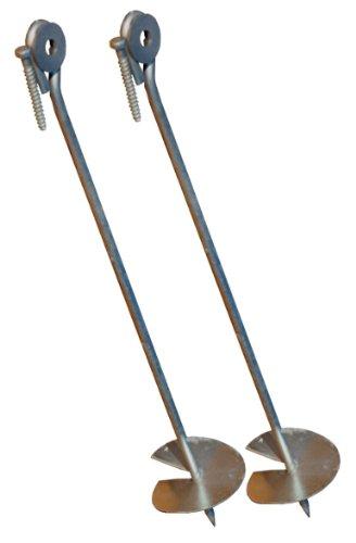 Loggyland Bodenanker eindrehbar für Schaukel etc. 58 cm verzinkt (2er-Set)