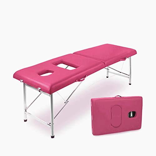 MGW Table De Massage Taille Réglable Légère Portative De Table De Beauté De Lit De Massage Deux...