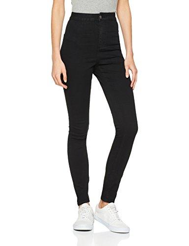 NOISY MAY Damen NMELLA SUPER HW GU304 NOOS Slim Jeans, Schwarz (Black), 36 /L30 (Herstellergröße: S)