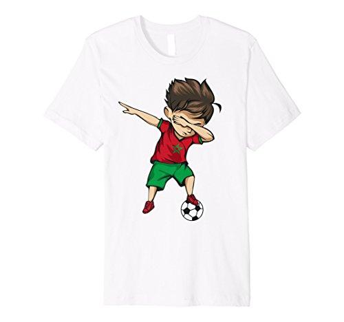 Dabbing-Motiv Marokko Trikot Fußball im marokkanischen Stil,