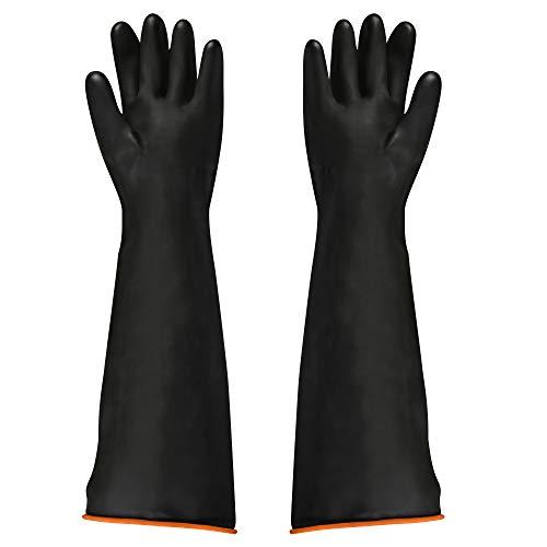 FOCCTS Naturgummilatex Handschuh Industrie Anti Chemische Säure Alkali Gummihandschuhe 55cm