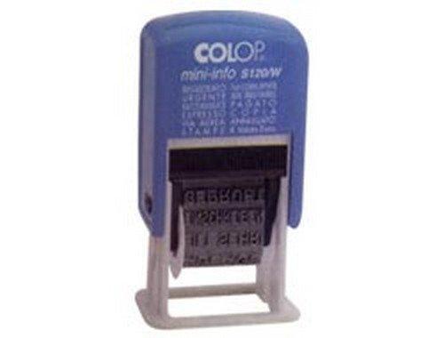 Stempel Polinomio Colop 12 lettertype 4mm S120W zelfkleurend [S120/W-BLS]