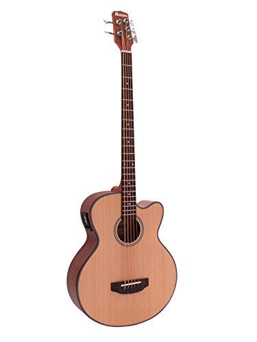 Dimavery 26224014 Akustische Bassgitarre mit 5 Saiten, Natural, Beige, One Size