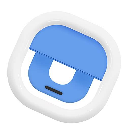 Selfie Flash LED de luz de Relleno Clip Ajustable para la cámara de vídeo de Maquillaje Transmisión en Vivo Compatible con iPhone Android Azul