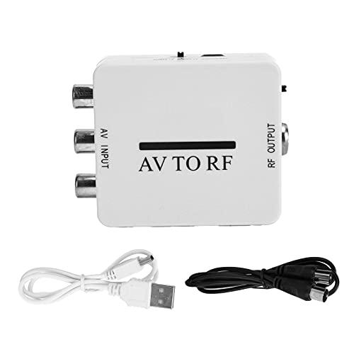 Ladieshow Convertidor de Video Mini Adaptador de Audio Amplificador de TV RCA AV CVSB a RF 67.25MHz 61.25MHz