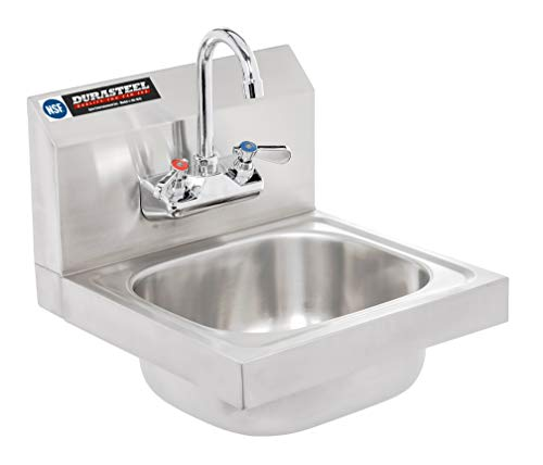 DuraSteel Stainless Steel Hand Sink | Commercial Wall Mount Sink...