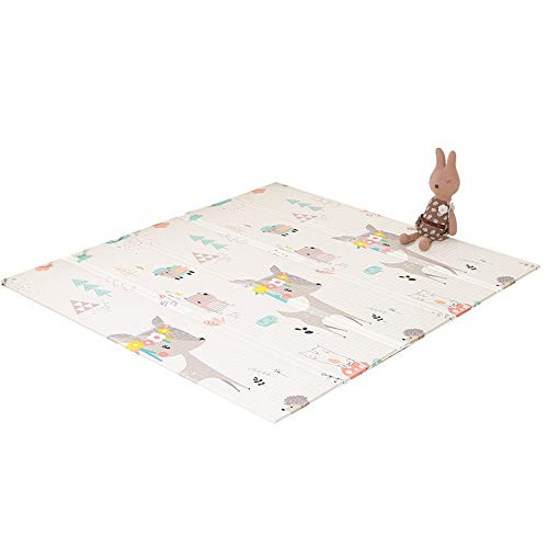 Best Buy! WLPOY Baby Kids Play Mat Baby Folding Mat Play Mat Extra Large Foam Play Mat Crawl Mat Rev...