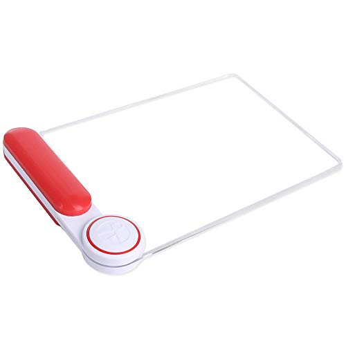 3X Large Page Magnifying Glass with Crystal Lens, Rectangular Hand-held Magnifier for Reading, Low Vision, Seniors, Jewelry, Coins