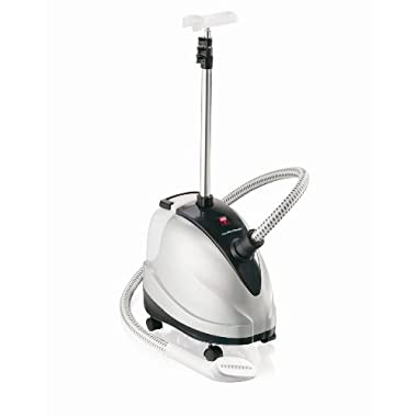 Hamilton Beach Full Size Garment Steamer, Gentle on Fabrics, with 90 Minutes Steaming Power, Telescoping Pole and Castor Roll Wheels for Mobility