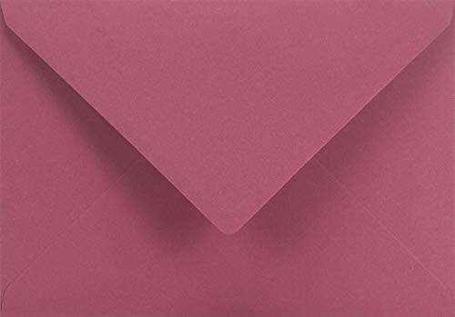 100 Dunkel-Rosa DIN C5 Recycling-Briefumschläge ohne Fenster 162x229 mm 140g Woodstock Malva Umschläge aus recyceltem Papier recycelte Umschläge bunt Briefhüllen aus Ökopapier hochwertig