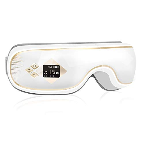 GALOPAR アイウォーマー ホットアイマスク 目元エステ Bluetooth 音楽 エア 目もと 誕生日 プレゼント ギフト 敬老の日 男女兼用 目元ケア USB充電(白)