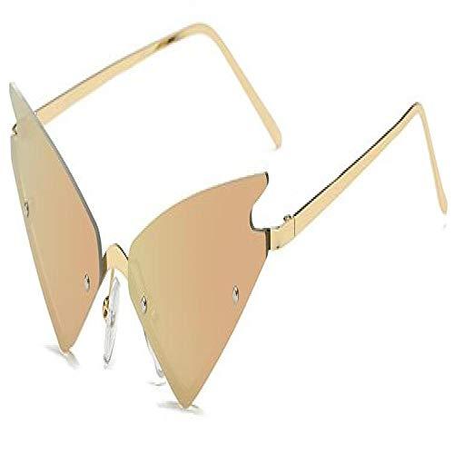 Moda Occhiali da Sole Cat Eye Occhiali da Sole Designer di Marca Vintage Montatura in Metallo Occhiali da Sole Uomo Occhiali da Vista Senza Montatura Uv400 Goldpink Spedizione Gr
