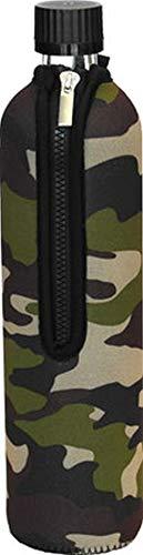 Dora´s Glasflasche mit Neoprenbezug 500 ml (camouflage)