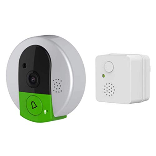 JJZXT Smart Home cámaras de Seguridad de la visión Nocturna, Cubierta al Aire Libre, de Alta definición, Timbre de la Puerta de Alambre-Libre, y de Dos vías Llamada de Voz