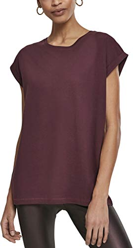 Urban Classics Damen Ladies Extended Shoulder Tee T-Shirt, Rot (Redwine 02243), Small (Herstellergröße: S)