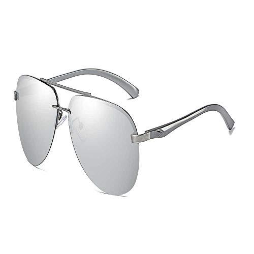 Gafas de sol polarizadas Nueva deslumbrante película almeja espejo primavera aluminio magnesio pierna gafas de sol