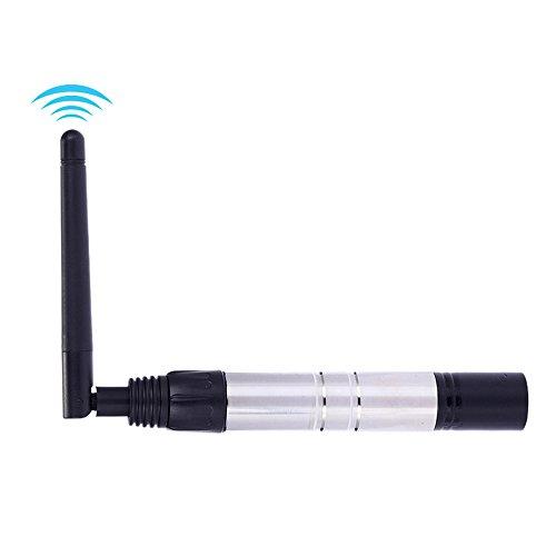 Docooler DMX Sender/DMX Transmitter, 23DBM High Power 1000M Ultra Long Distance 2,4 G ISM DMX512 Drahtlose XLR Sender Lichtsteuerung mit Antenne für LED Bühne PAR Effekt Lampe