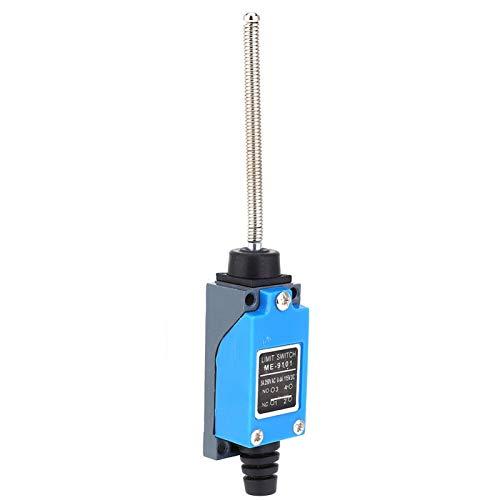Interruptor de límite ME-9101, interruptor de carrera de límite, microinterruptor de palanca de rodillo ajustable de 250 VCA 50~60 Hz 115 VCC 17,3 x 2,7 x 2,4 cm