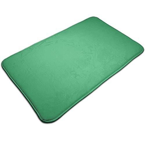 Alfombra de piso verde mar color sólido alfombra interior para puerta pequeña interior piso 31.7 x 19.8 pulgadas