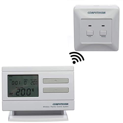 COMPUTHERM Q7RF digitaler, programmierbarer Funk-Thermostat, leitungsfreier & mobiler Zimmer-Thermostat für Heizung, Klimaanlagen & Fußbodenheizung, kabelloser Raum-Temperaturregler