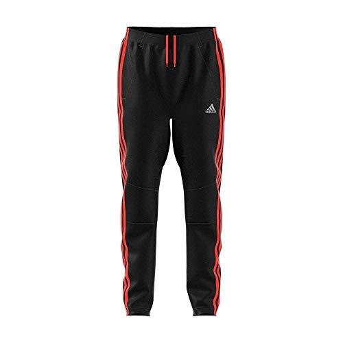 adidas Jungen Football Striker 3 Stripes Hose, Black/Solar Red, 110