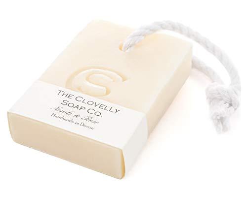 Clovelly Soap Co Natürliche handgemachte Seife Neroli & Rose mit Schnur für alle Hauttypen 100g