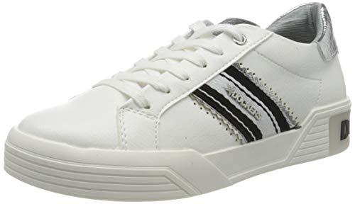 Dockers by Gerli Women's Low-Top Sneakers, White Weiss Schwarz 501, 8.5