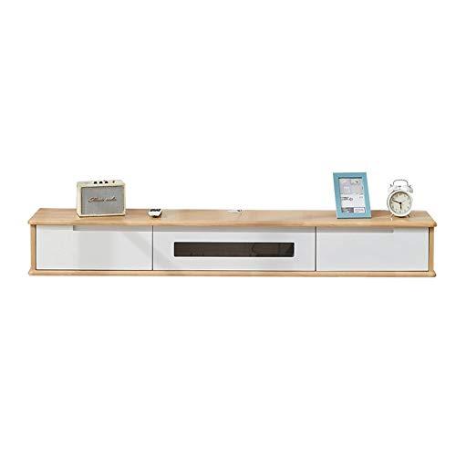 Estante flotante moderno mueble de TV flotante montado en la pared TV, gabinete de TV de consola de almacenamiento de medios domésticos/A / 150cm
