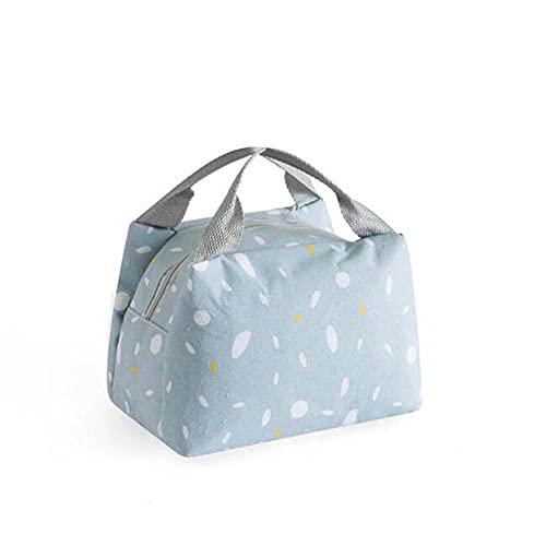 Bolsa simple de color impermeable para hombres y mujeres, caja para estudiantes, bolsa térmica para oficina, escuela, picnic, bolsa refrigeradora, Lancheira-Azul 02