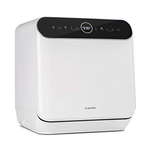 KLARSTEIN Oceana - mini lave-vaisselle de table, CEE A, 125 kWh/an, 2 couverts, pose libre, sans installation, lavage 360 °, 6 programmes, commande tactile, consommation d'eau: 6 l, 58 dB - blanc