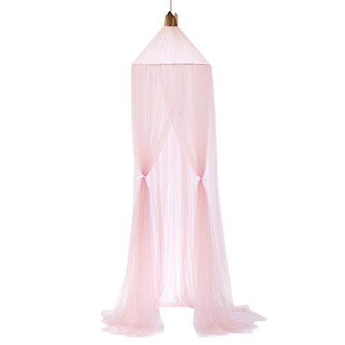LOXBEE Mosquitera redonda para cama con dosel para jugar tienda de campaña, cortinas colgantes de encaje