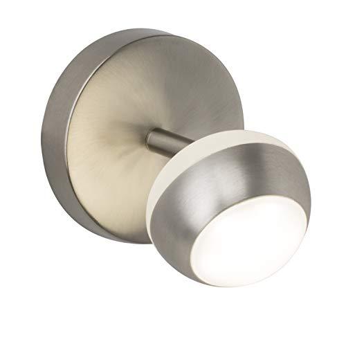 Brilliant Remote LED Wandspot Wandstrahler Fernbedienung dimmbar schwenkbar CCT Einstellung der Lichttemperatur Nachtlichtfunktion eisen 390 Lumen, LED integriert
