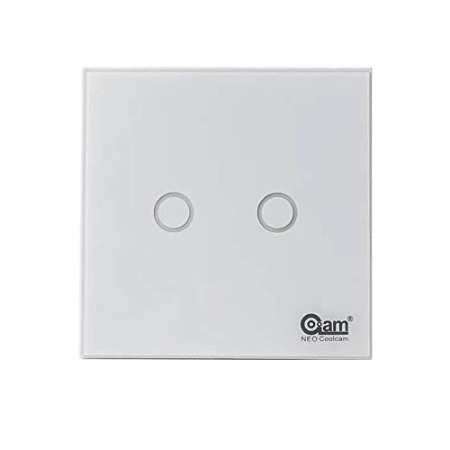 Z-Wave Plus z-Wave - Panel táctil de luz de pared, interruptor de 2 gang