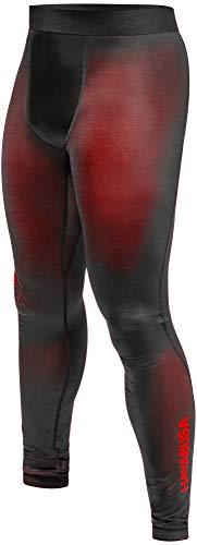 Hayabusa Geo Jiu Jitsu Compression Spats - Red, Medium