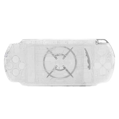 Richer-R PSP 3000ケース ゲームシェル 収納カバー PSP 3000完全ハウジング コンソールゲームケース ゲーム保護カバー PC質 軽量 保護ケース 全面保護 耐衝撃 交換用修理部品(白 透明 黒 青)(ホワイト2)