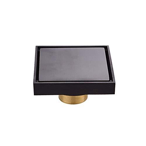 QuRRong Bodenablauf Alle Abfluss Copper Boden Stealth Bouncing Anti-Geruchs-Core-Kupfer Auswechselbare Kunststoffkern Bodenablauf für Hotel Badezimmer (Color : Black, Size : ONE Size)